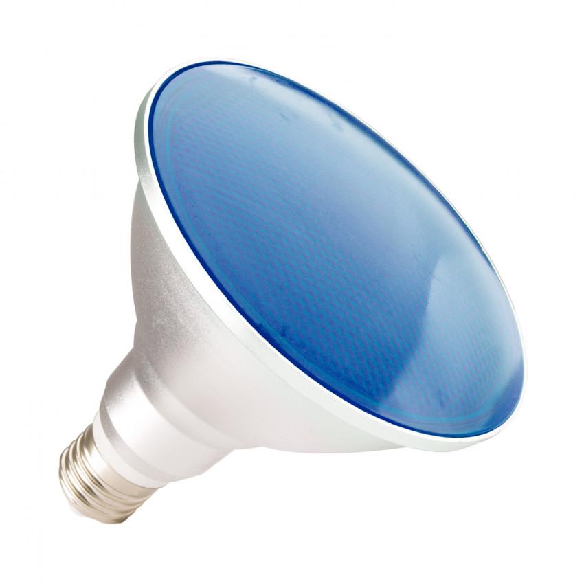 Lámpara LED E27 PAR38 15W IP65 Luz Azul