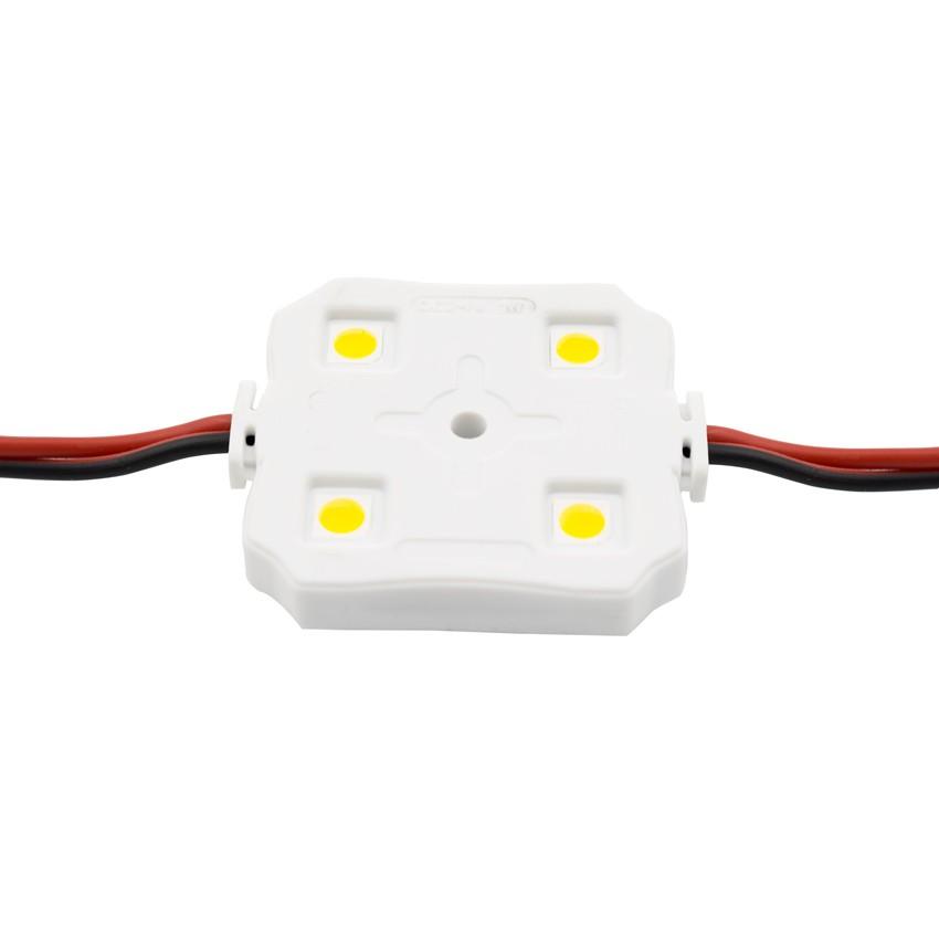 Corrente de 20 Módulos Quadrados de 4 LEDs SMD5050 24V 1W