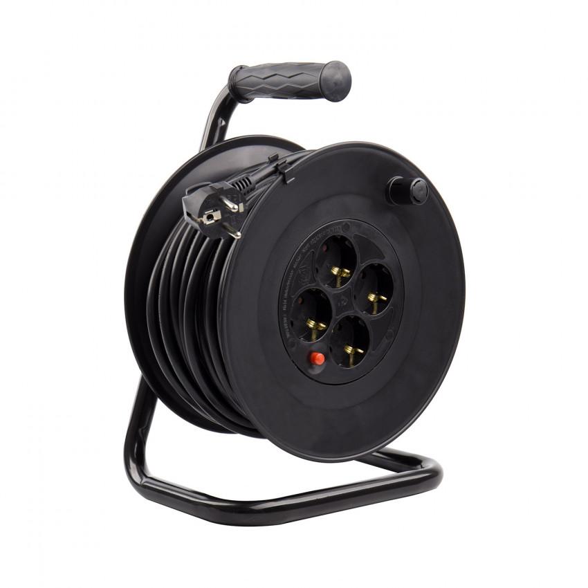 Carrete Alargador de Cable 25m Liso 3x1.5 mm