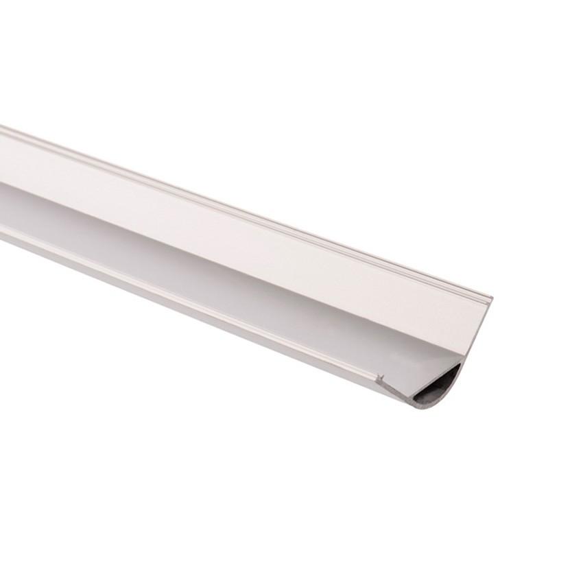 Perfil de Aluminio para Esquinas Redondo 1m para Tira LED hasta 18 mm