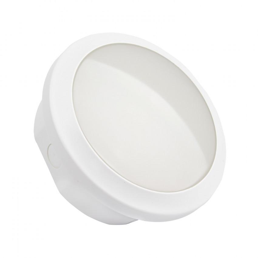 Luz de Emergência LED Circular Impermeável 2W IP65