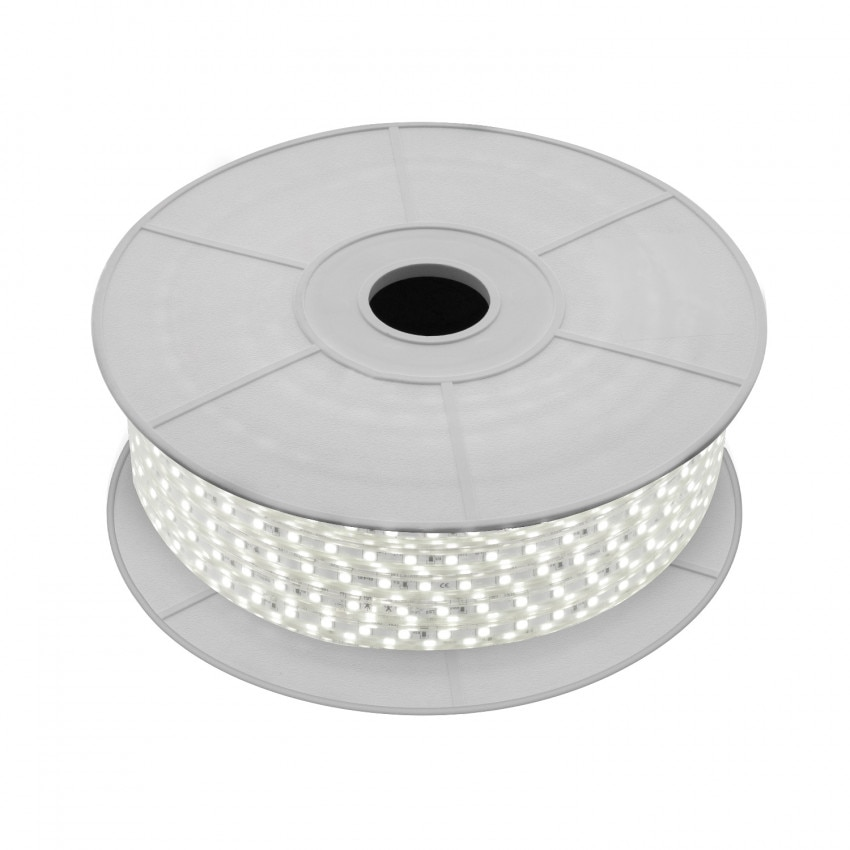 Bobina de Tira LED Regulable 220V AC 60 LED/m 50m Blanco Neutro IP65 Corte a los 100cm