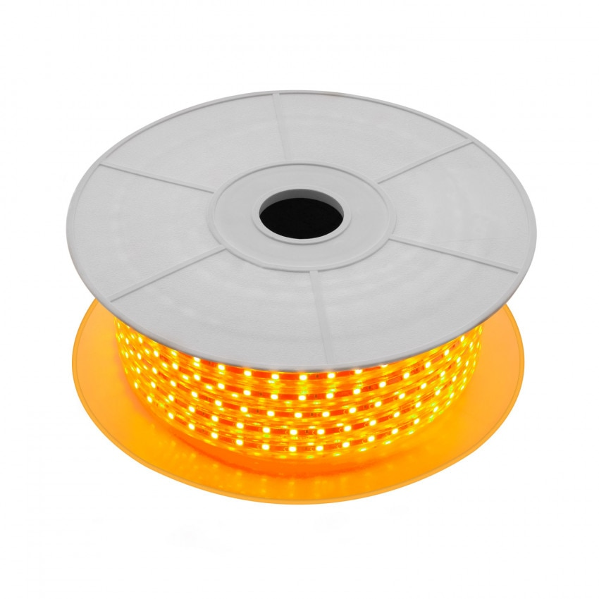 Bobina de Tira LED Regulable 220V AC 60 LED/m 50m Naranja IP65 Corte cada 100cm