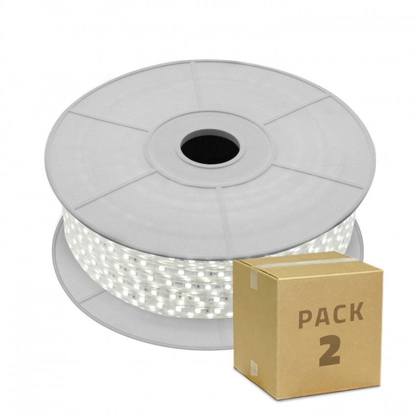 Pack Bobina de Tira LED 220V AC SMD5050 60 LED/m Monocolor (2x139.99€)