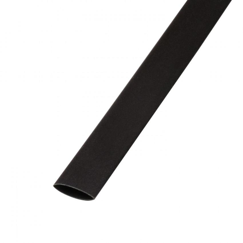 Tubo Termorectráctil Preto Contração 3:1 18mm 1 metro