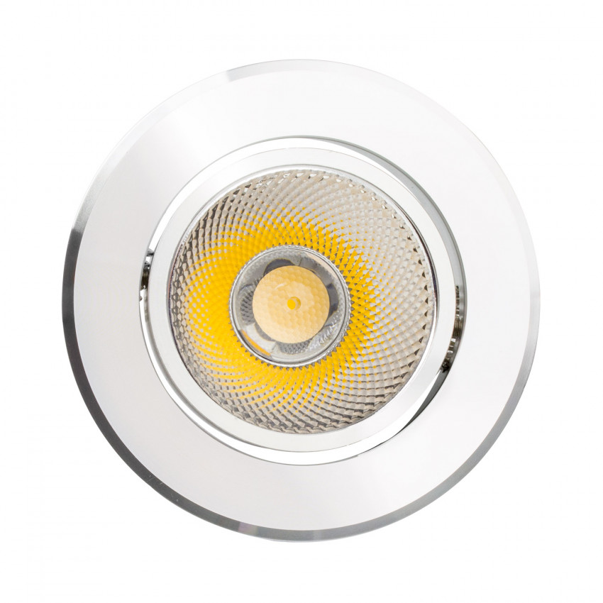 Foco LED Downlight Circular COB 12W Plata