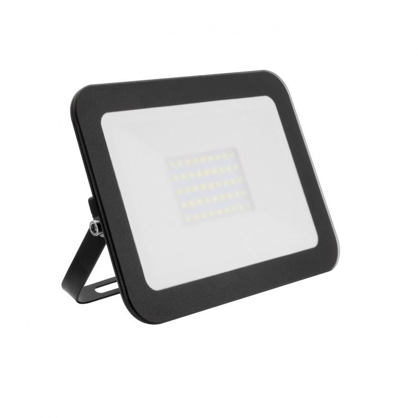 Foco Proyector LED 30W 120lm/W Slim Cristal Negro