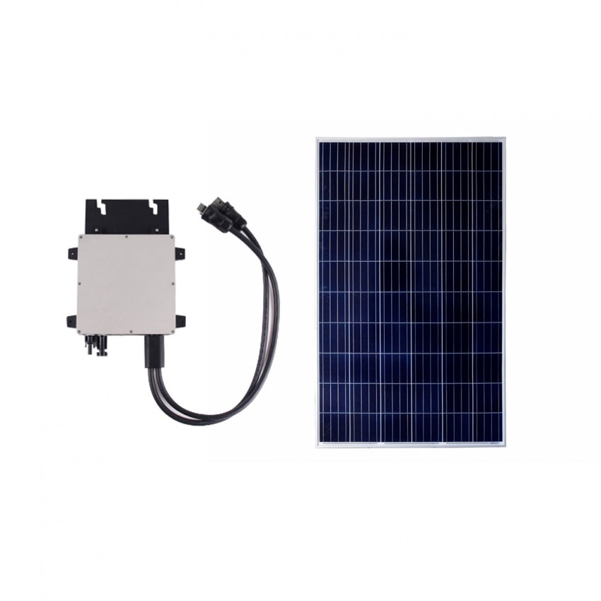 Pack Painel Solar FotoVoltaico Policristalino 275W Classe A + Microinversor 300W