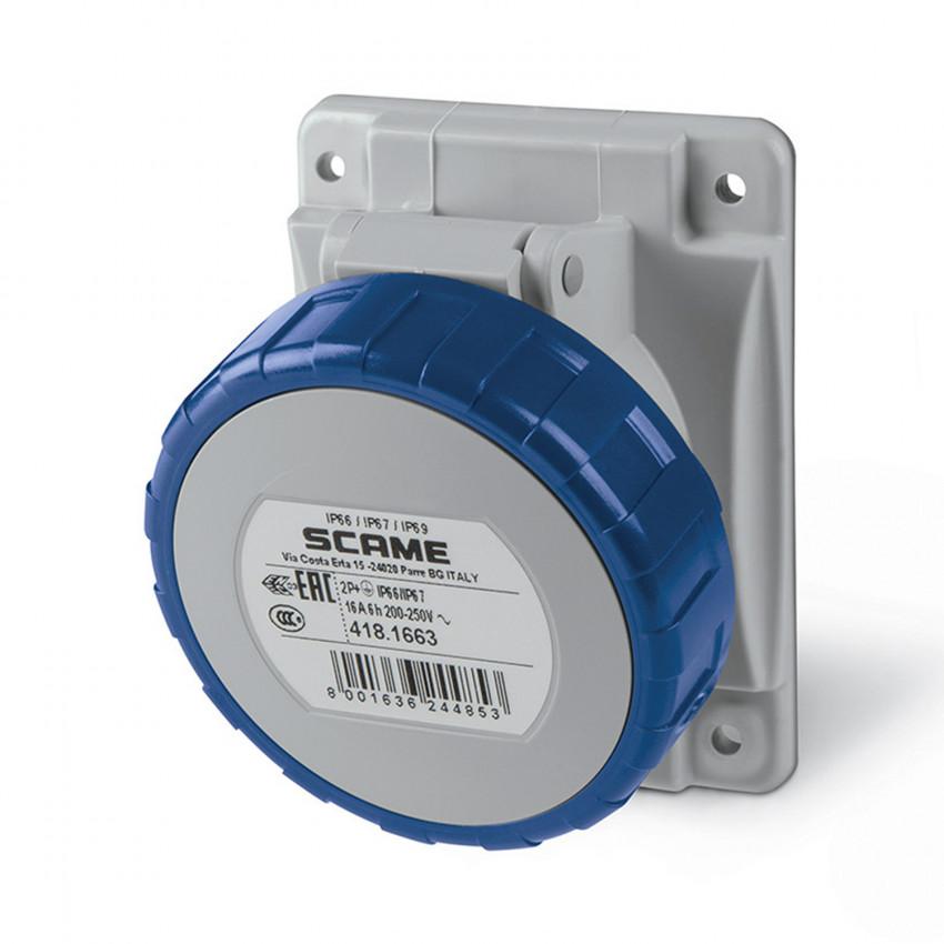 Base Empotrable CETAC en Cuadro Estanca 16A IP67 Optima SCAME