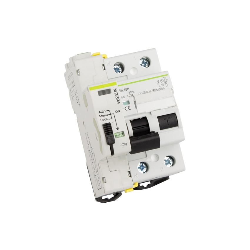 Interruptor Diferencial Rearmable Compacto MAXGE 2P-300mA-10kA