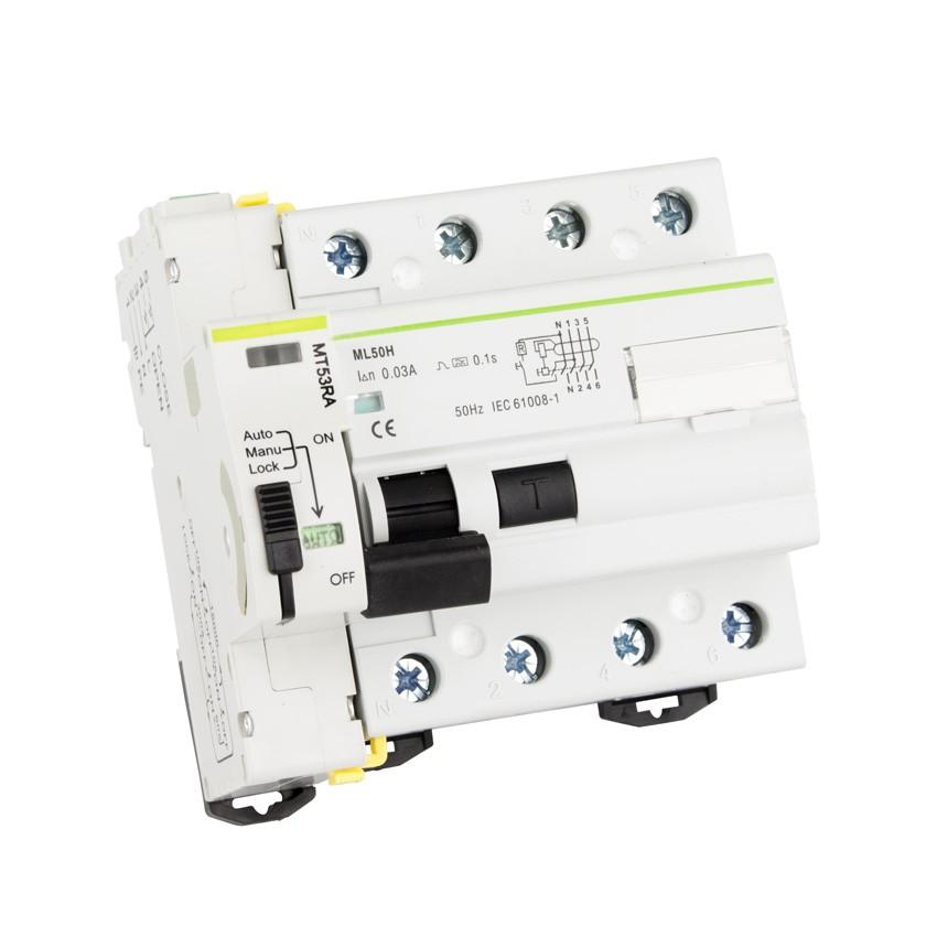 Interruptor Diferencial Rearmable Compacto MAXGE 4P-30mA-10kA