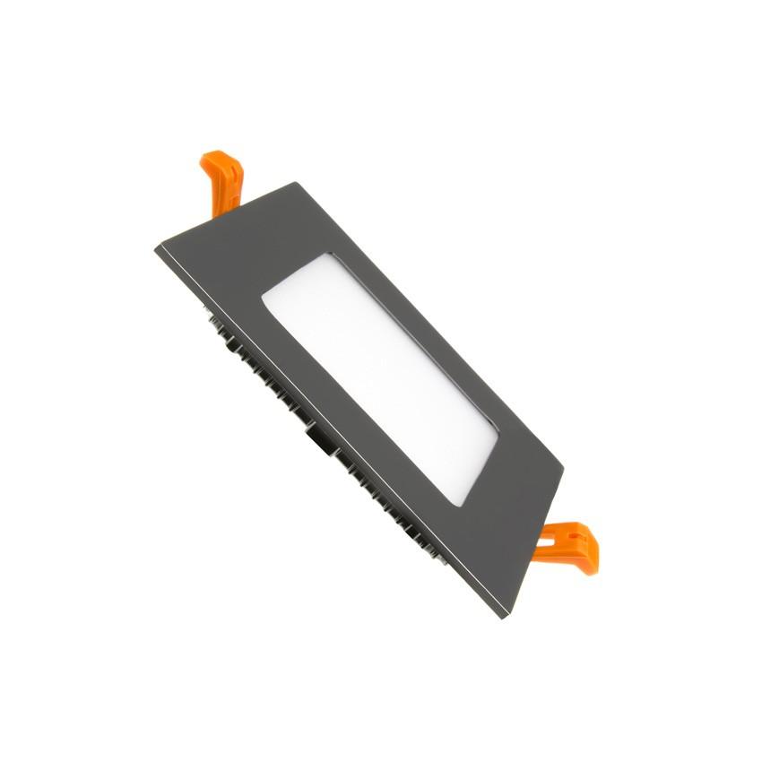 Placa LED Quadrada SuperSlim 6W Black