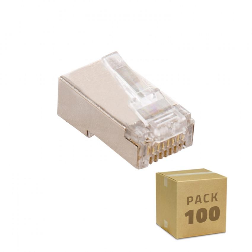 Pack 100 Unidades RJ45 FTP Blindado