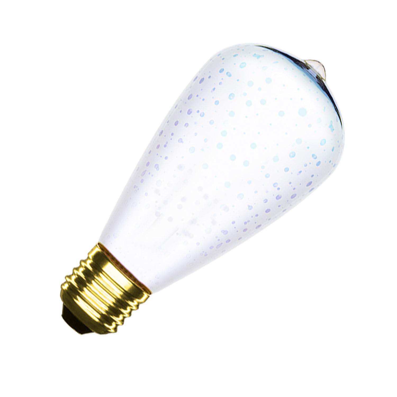 Bombilla LED E27 Regulable Filamento Flama ST64 3.5W