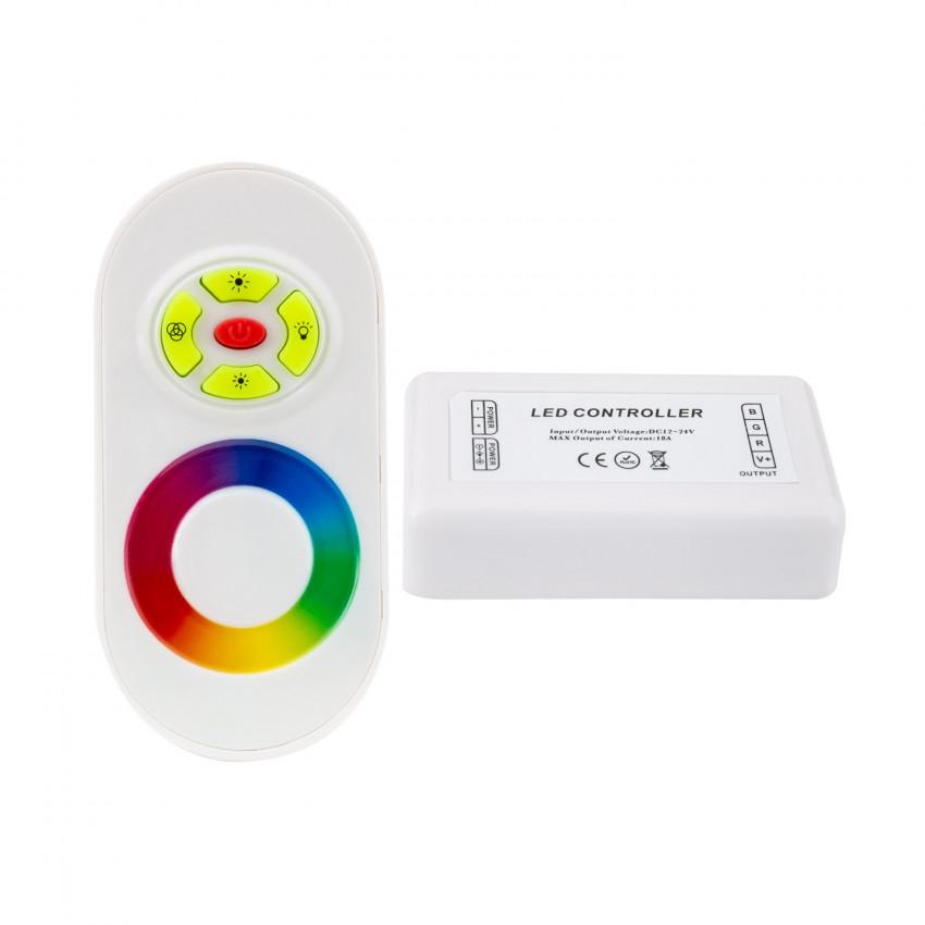 Controlador Táctil LED RGB 12/24V, Dimmer por Controle Remoto RF