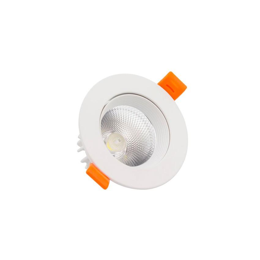 Foco Downlight LED 5W COB Direccionable Circular (UGR19) Blanco Corte Ø 70 mm CRI92 Expert Color