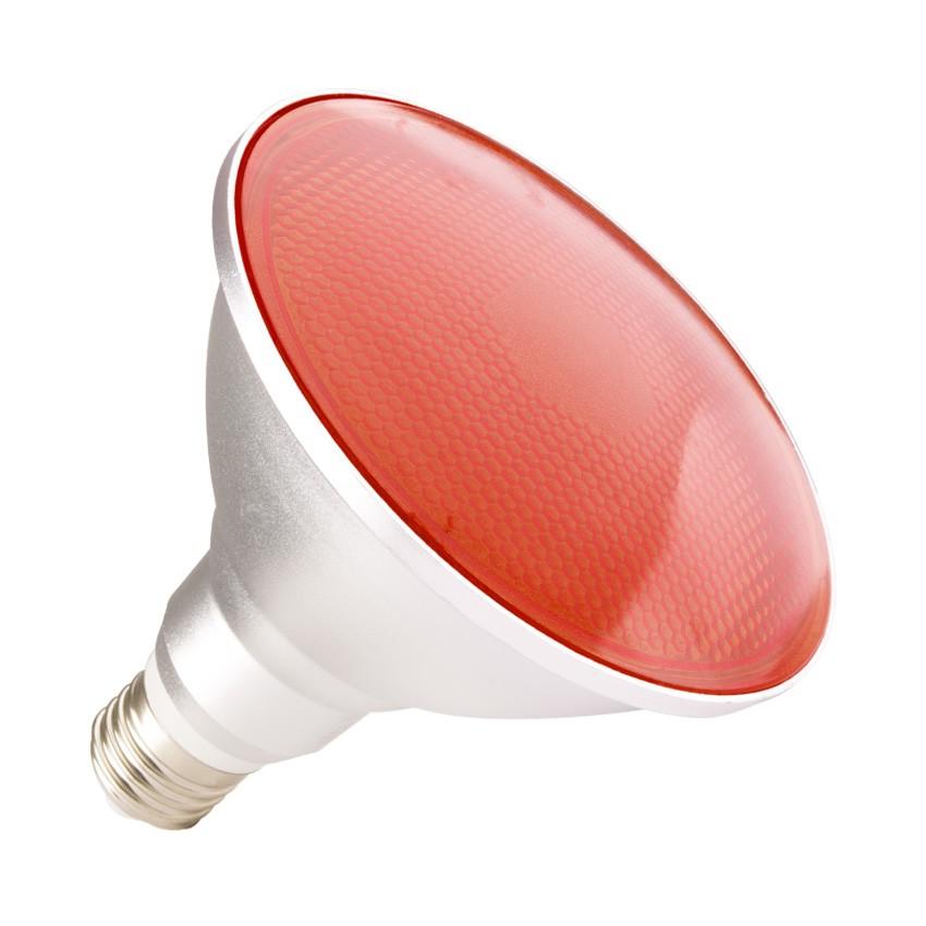 Lámpara LED E27 PAR38 15W IP65 Luz Roja