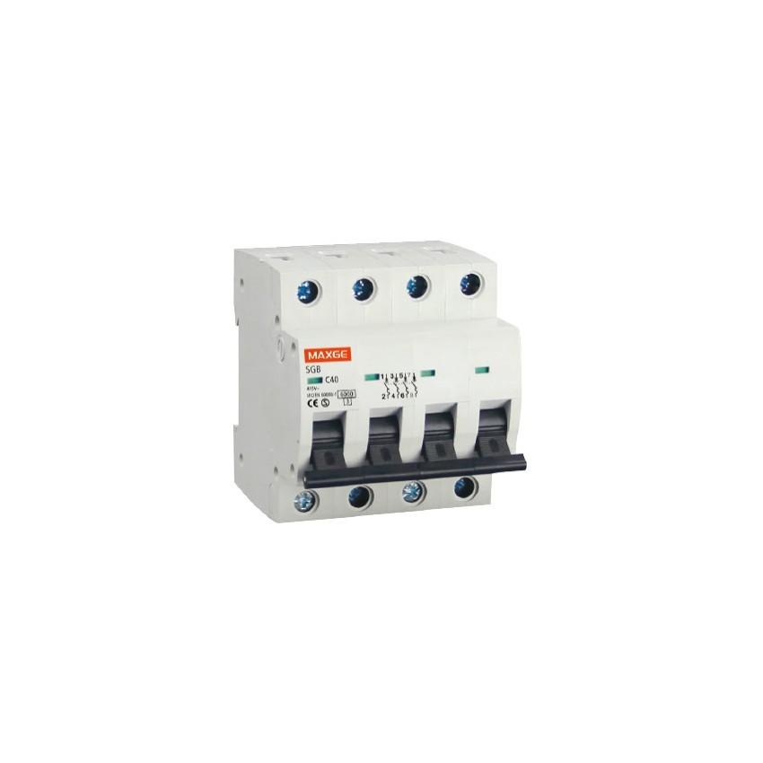 Interruptor Automático Industrial MAXGE 4P-10A-6kA