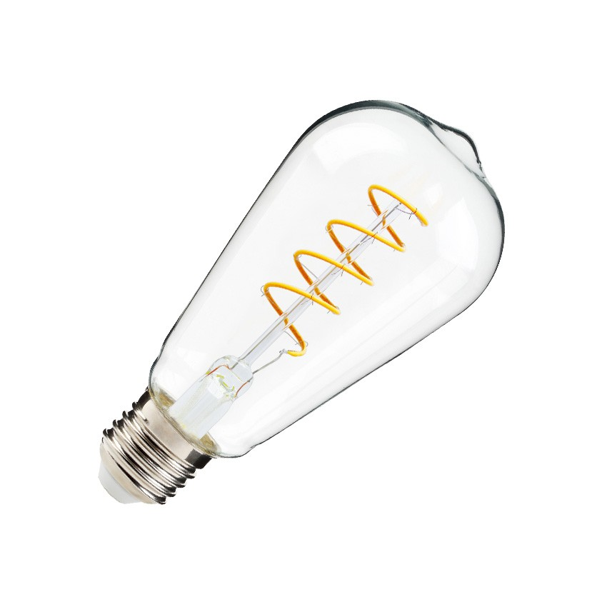 Lâmpada LED E27 Regulável Filamento Espiral Big Lemmon ST64 4W