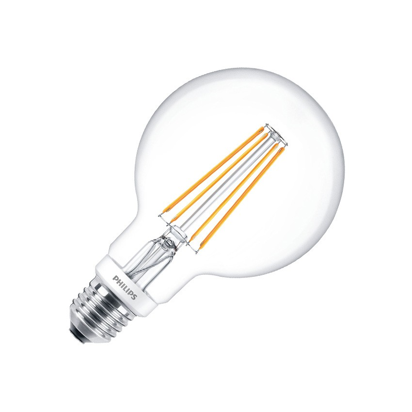 Bombilla LED E27 G93 Regulable Filamento PHILIPS Globo CLA 8W