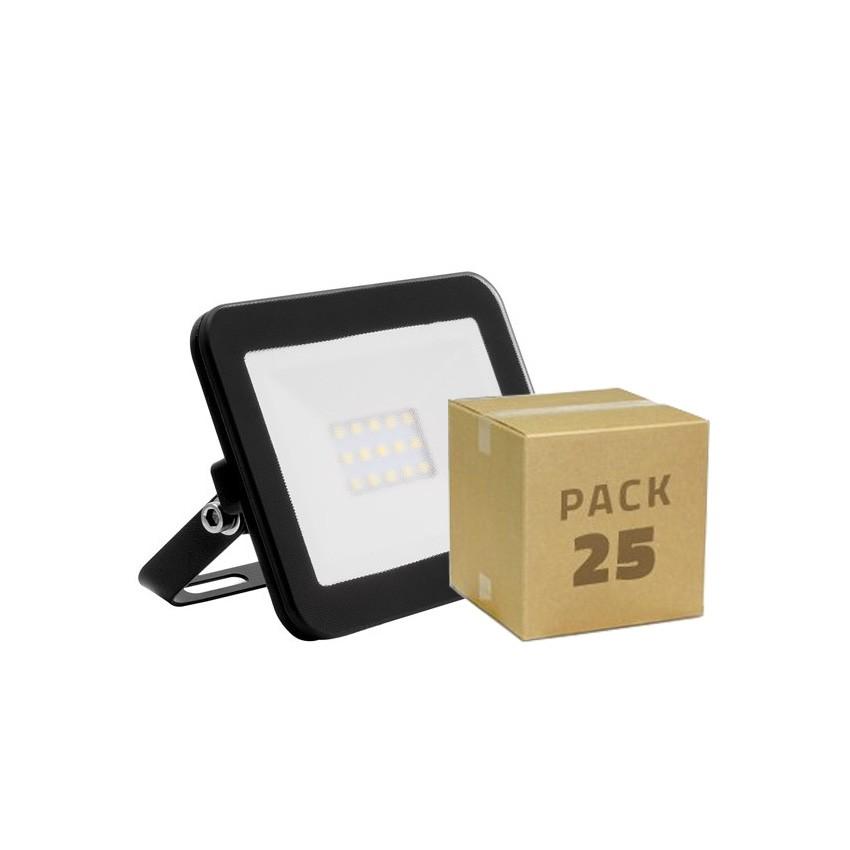 Pack Foco LED Slim Cristal 10W Negro (25x2.99€)