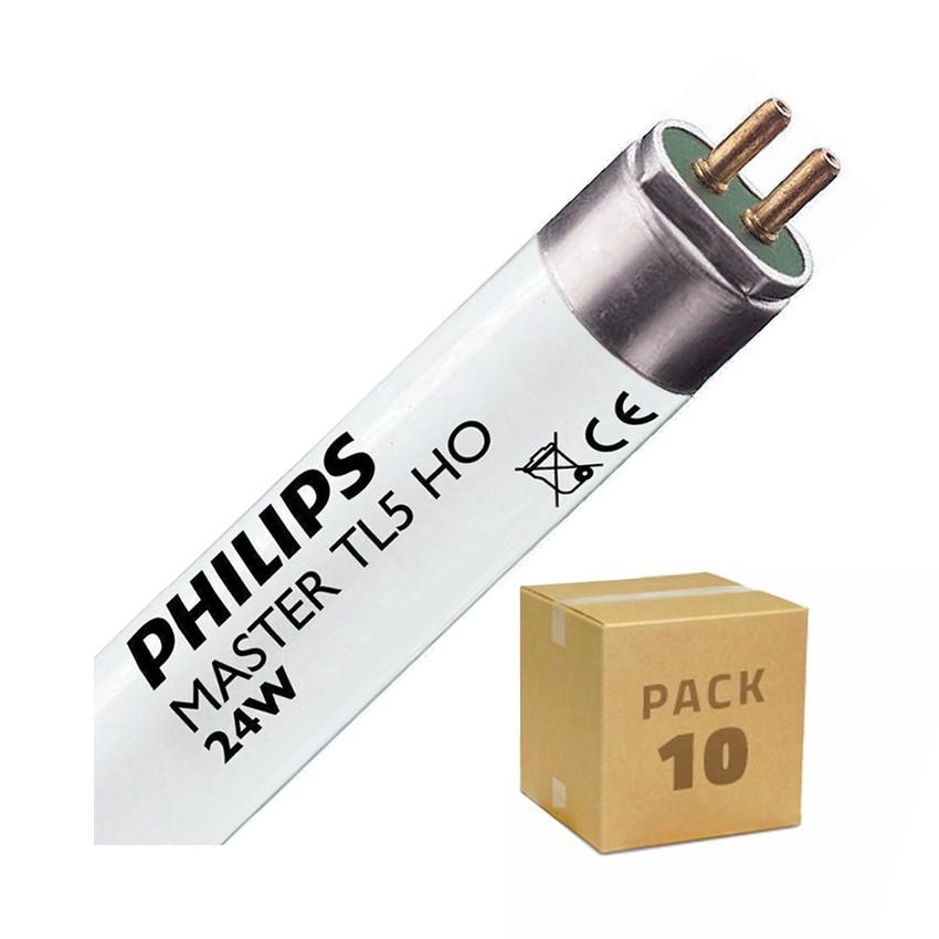 Pack Tubo Fluorescente Regulável PHILIPS T5 HO 550mm Conexão Bi-Lateral 24W (10un)