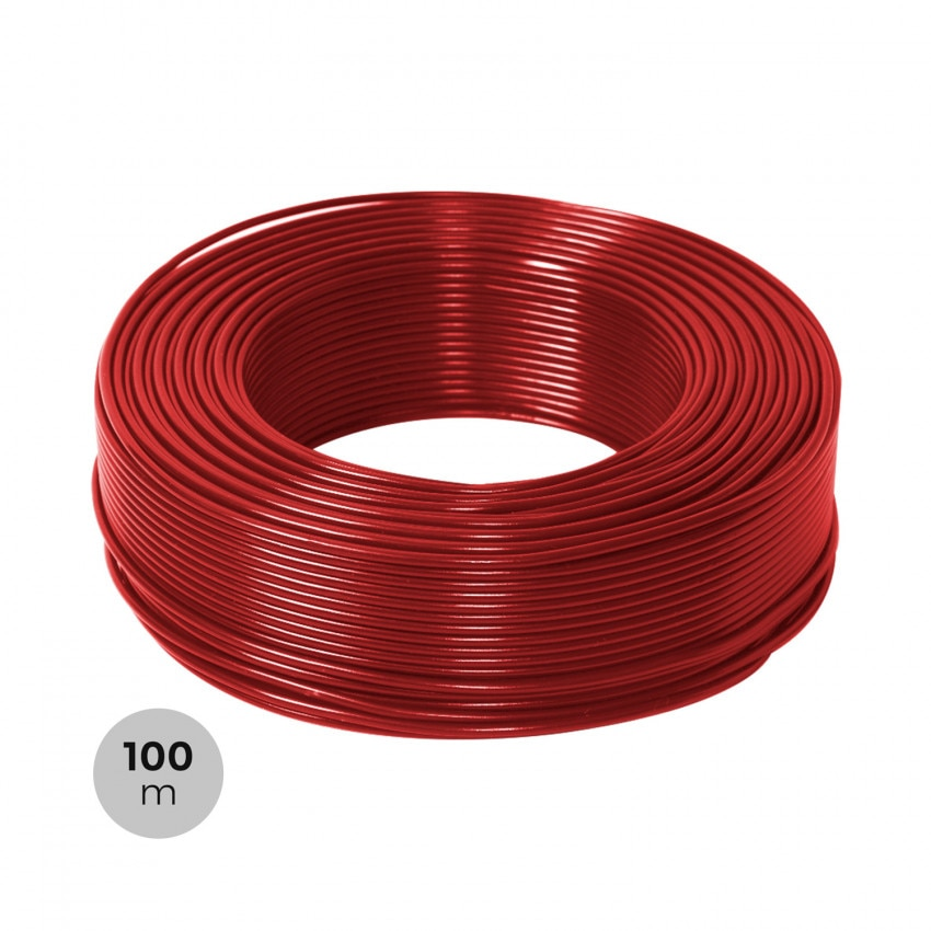 Rollo 100m Cable 6mm² PV ZZ-F Rojo