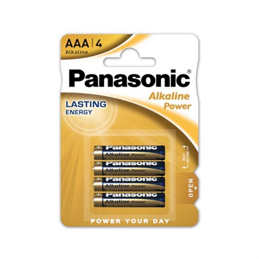 Pack 4 Pilhas Alcalinas Panasonic AAA LR03 1.5V