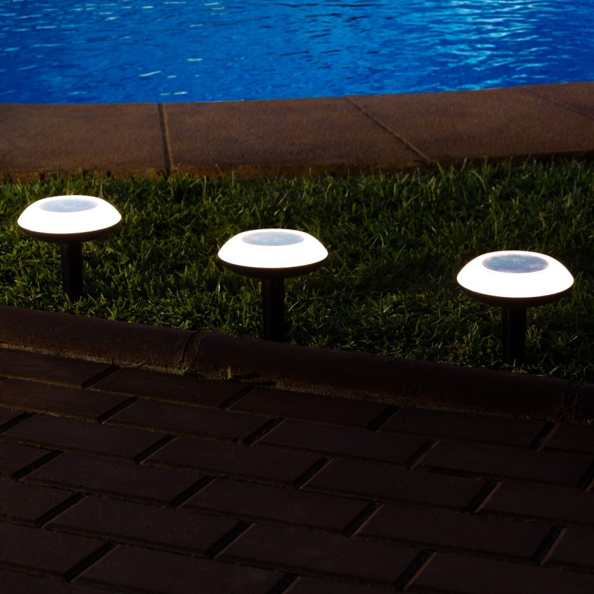 Baliza LED Smart Solar Bluetooth com Espeto RGBW IP65 0.4W