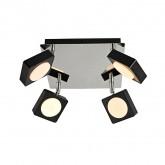 Foco LED Orientable Capri 4x6W Negro