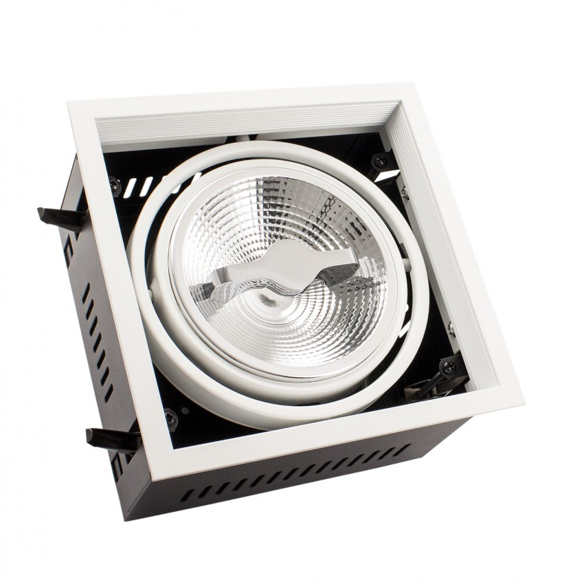 Foco Downlight LED CREE-COB Direccionável AR111 15W Regulável Corte 155x155 mm