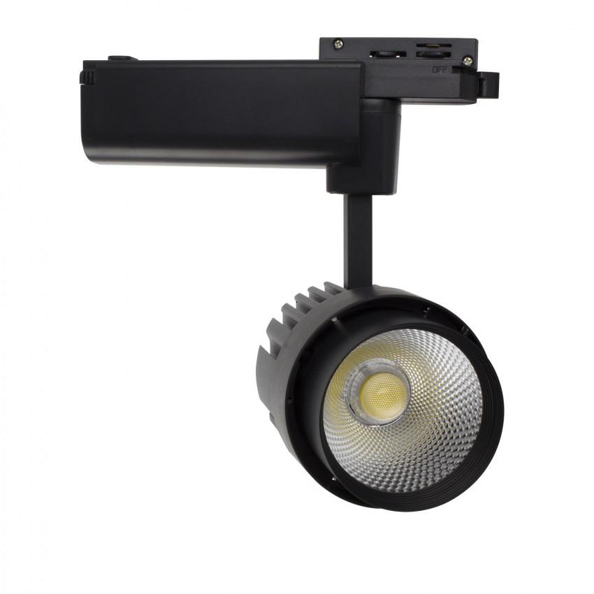 Foco LED Dora 30W Negro para Carril Monofásico