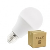 Pack Bombilla LED E27 A60 5W (5x3.35€)