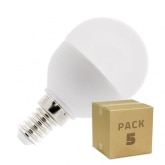 Pack 5 Bombillas LED E14 G45 5W