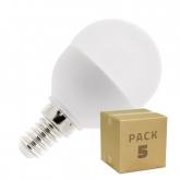 Pack 5 Bombillas LED E14 G45 5W