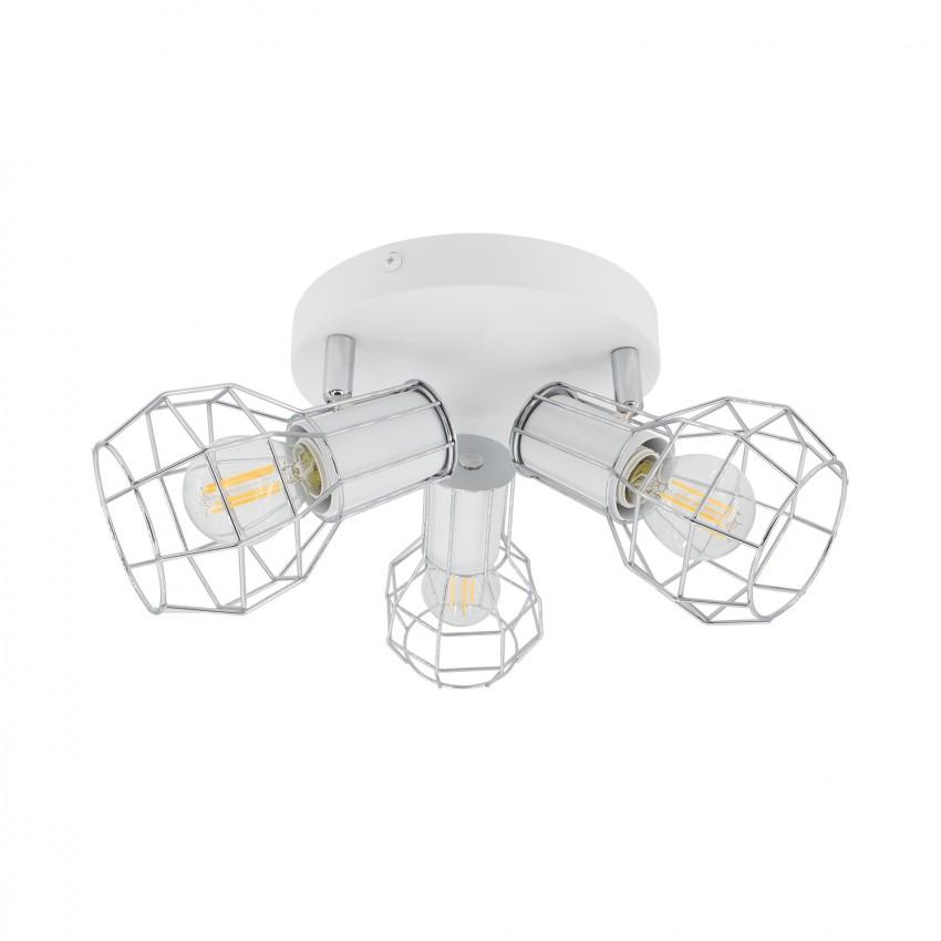 Lámpara de Techo Circular Orientable Lada 3 Focos Blanco