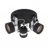 Foco Orientable Siner 3x Negro