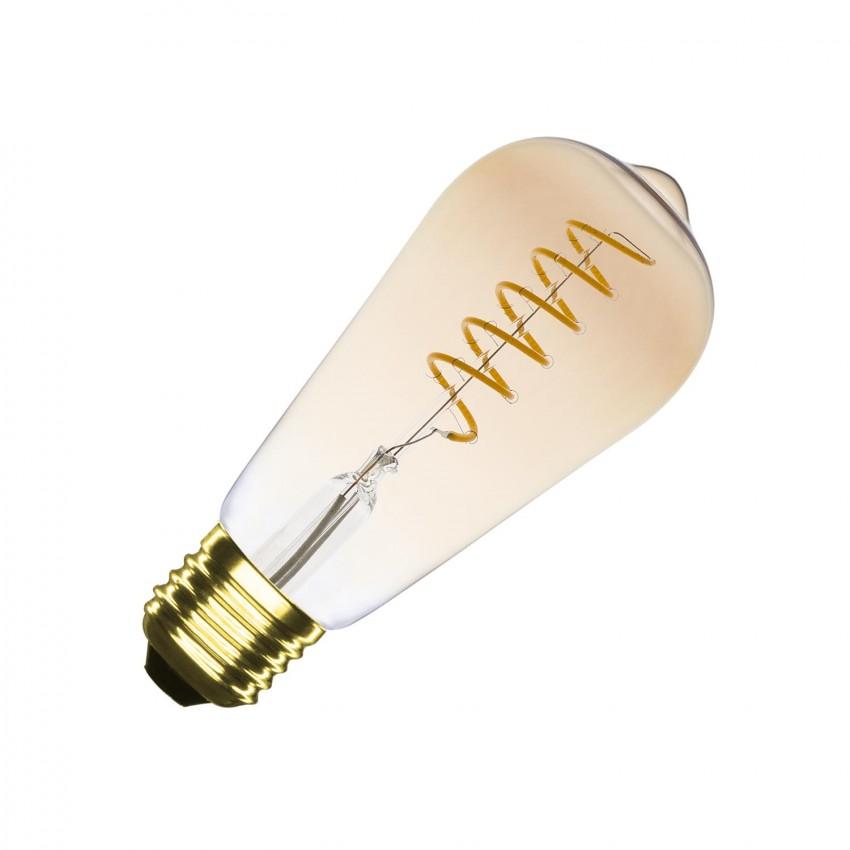 Lâmpada LED E27 Regulável Filamento Espiral Gold Big Lemmon ST64 4W