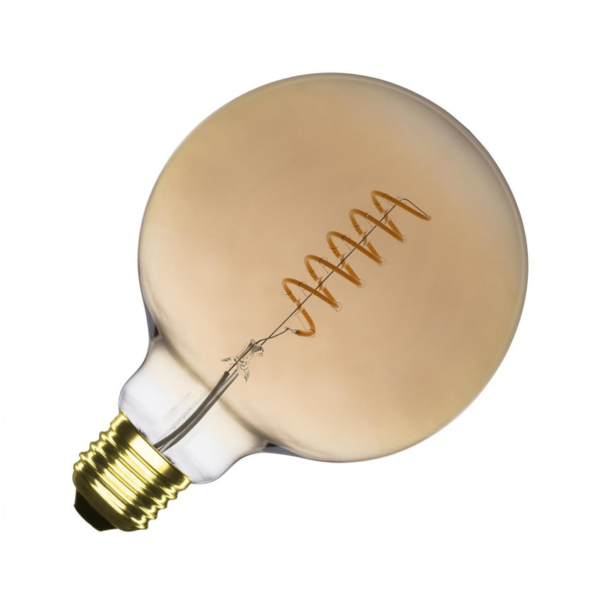 Bombilla LED E27 Regulable Filamento Espiral Gold Supreme G125 4W