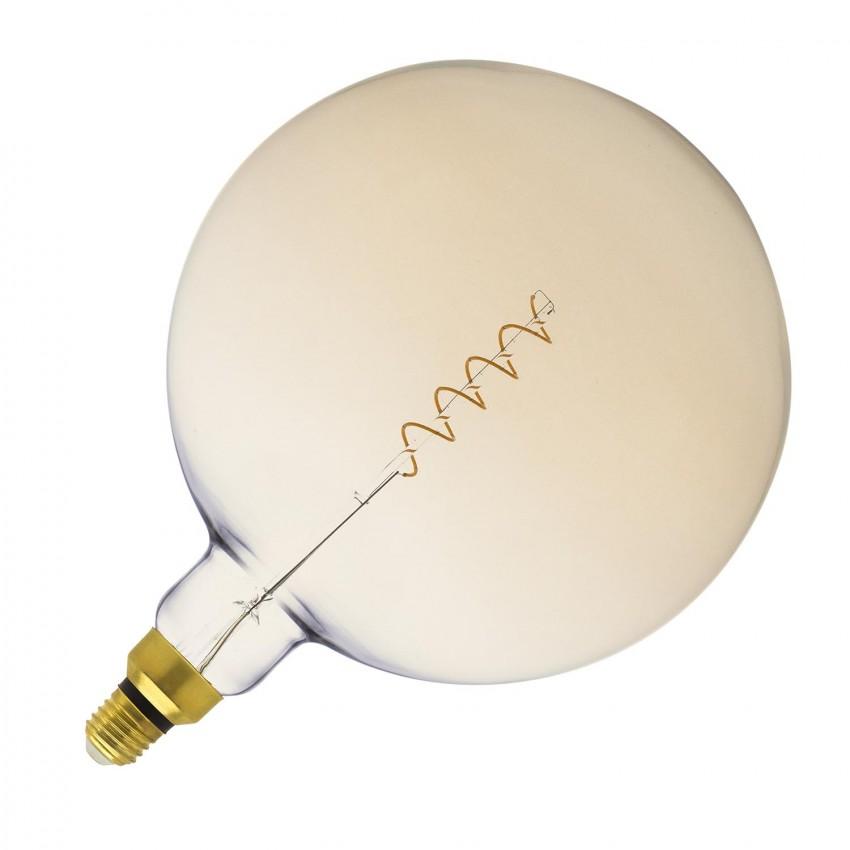 Bombilla LED E27 Regulable Filamento Espiral Gold Big Supreme G250 4W