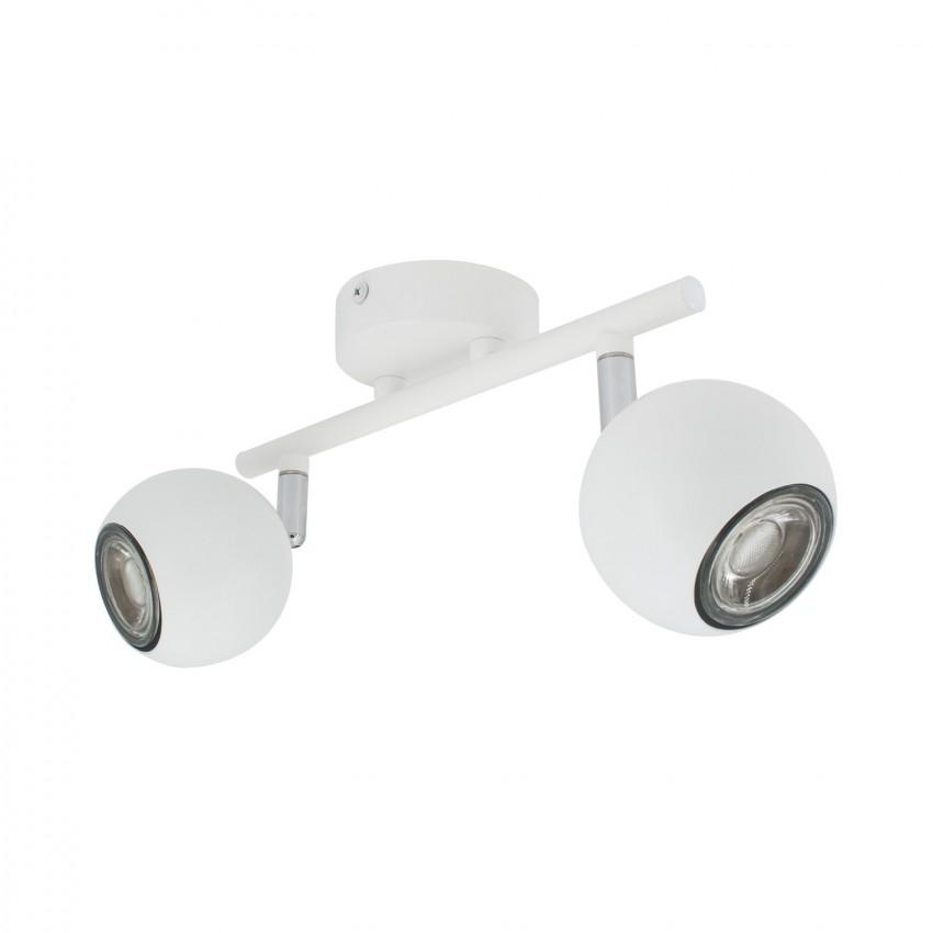 Lámpara de Techo Orientable Ates 2 Focos Blanco