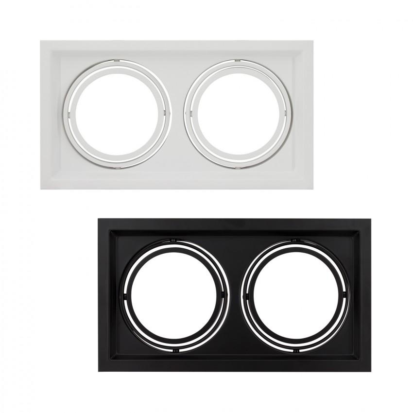 Aro Downlight Cuadrado Basculante para dos Bombillas LED AR111