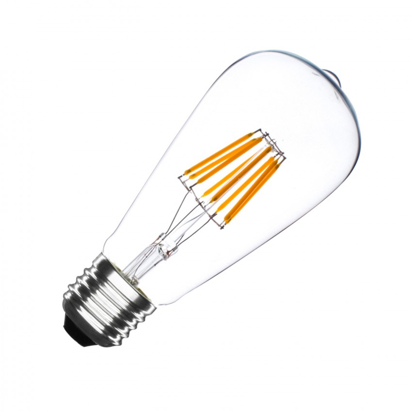 Bombilla LED E27 Regulable Filamento Big Lemon ST64 5.5W