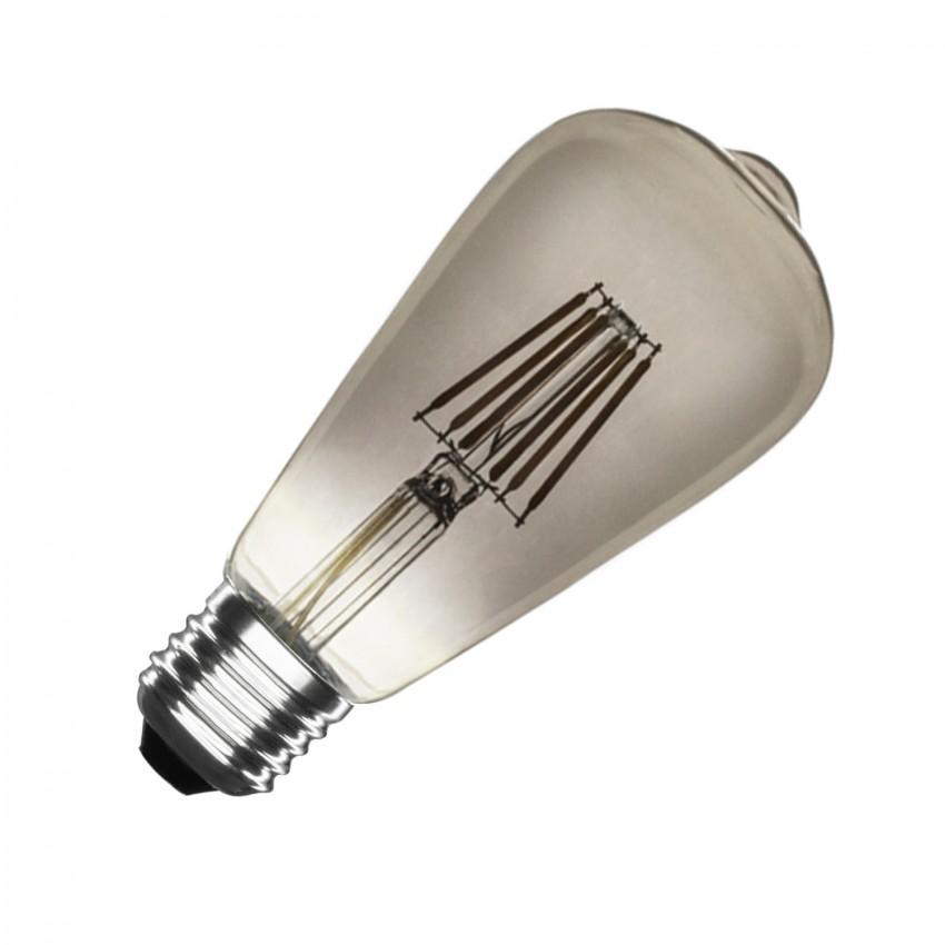 Bombilla LED E27 Regulable Filamento Smoke Lemon ST58 5.5W