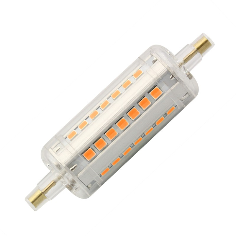 lâmpada led r7s slim 78mm 5w - efectoled