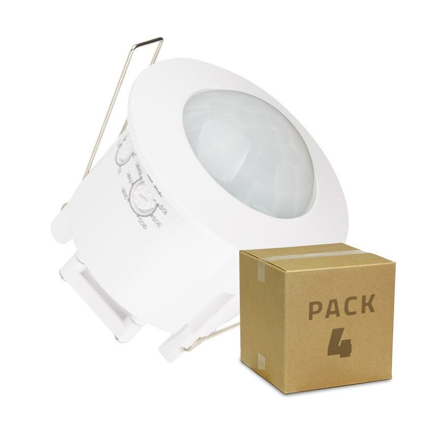 Pack Detector de Presença PIR 360º Encastrável (4 Un)
