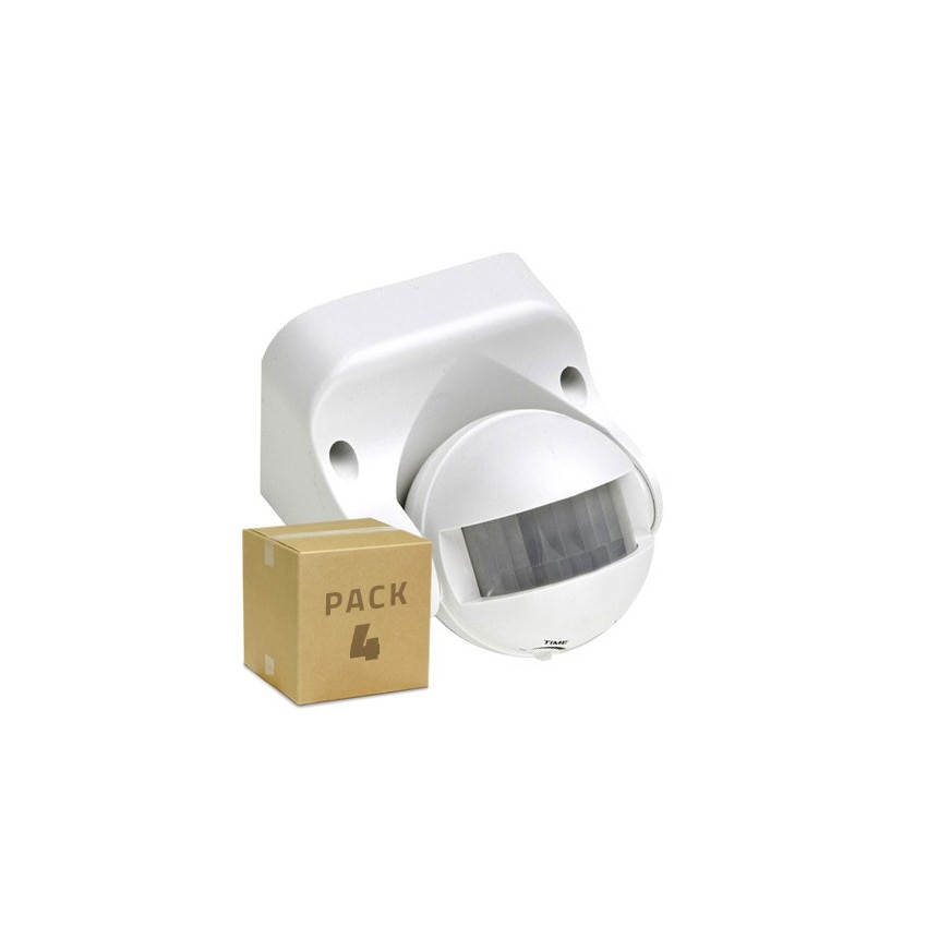Pack Detector de Movimiento PIR 180º Superficie (4 un)