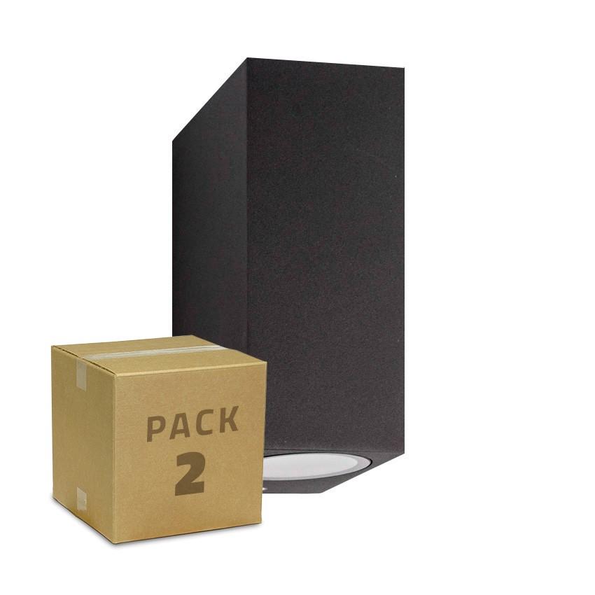 Pack Aplique Miseno Gris Oscuro Iluminación Doble Cara (2 un)