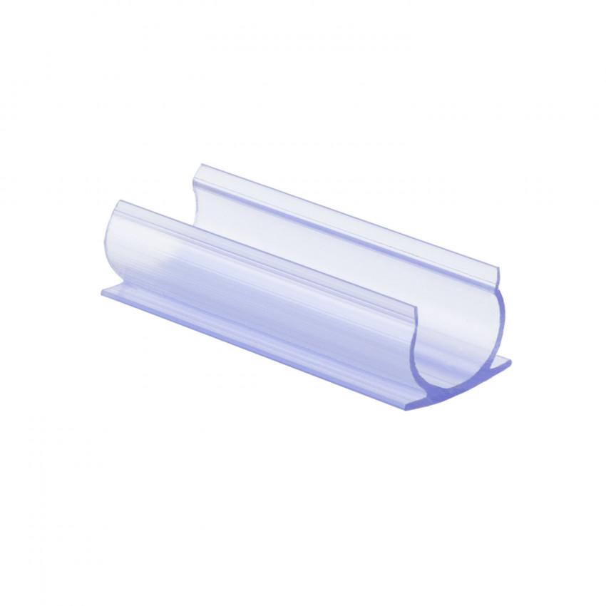 Clip de PVC Fixação para Neón LED Flexivél Circular 360 Monocor