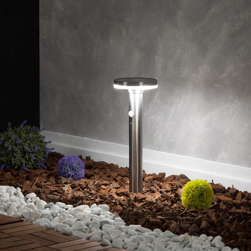 Baliza LED Solar Helios Inox con Detector de Movimiento PIR
